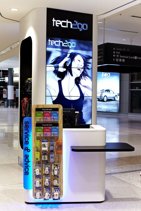 Tech2go Flagship Store, Sydney Airport. Interior Design