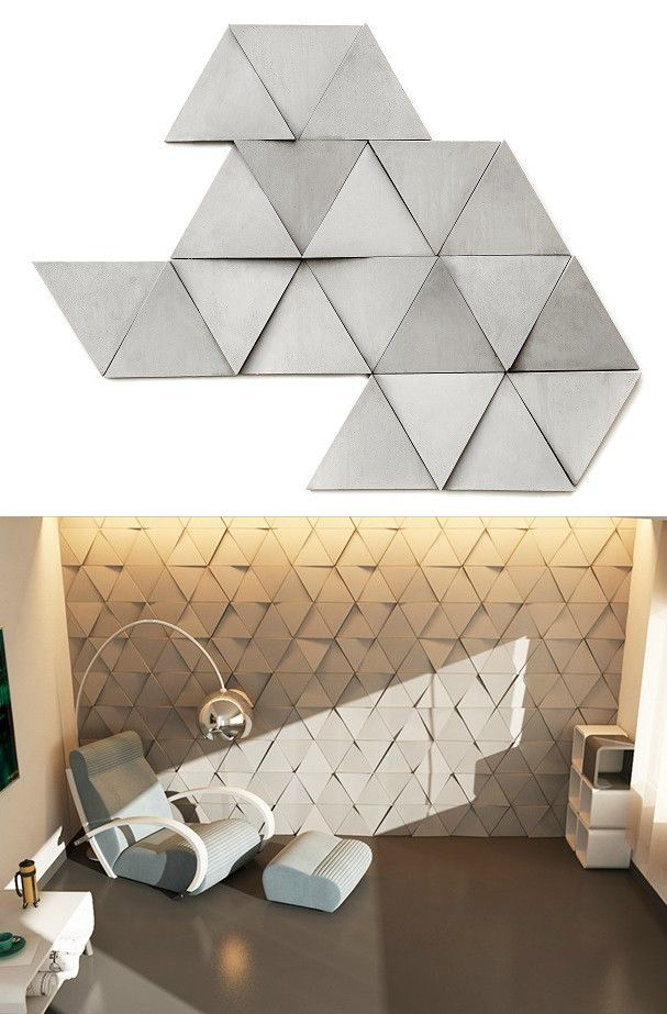 Concrete 3d wall cladding euclid by urbi et orbi for 3d concrete tiles