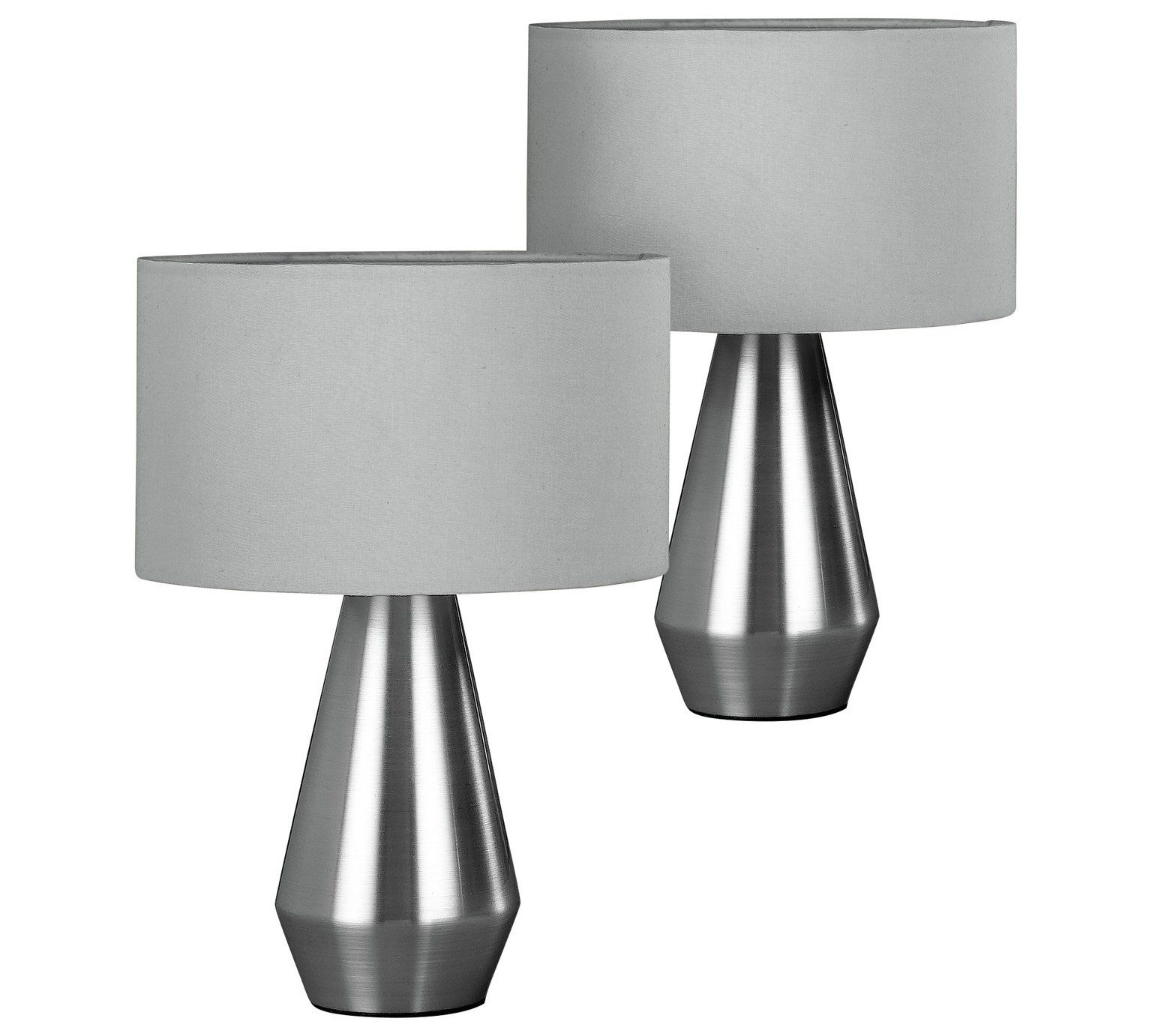 Buy Habitat Maya Pair Of Touch Table Lamps Grey Table Lamps Argos Touch Table Lamps Bedside Lamps Grey Touch Lamps Bedside