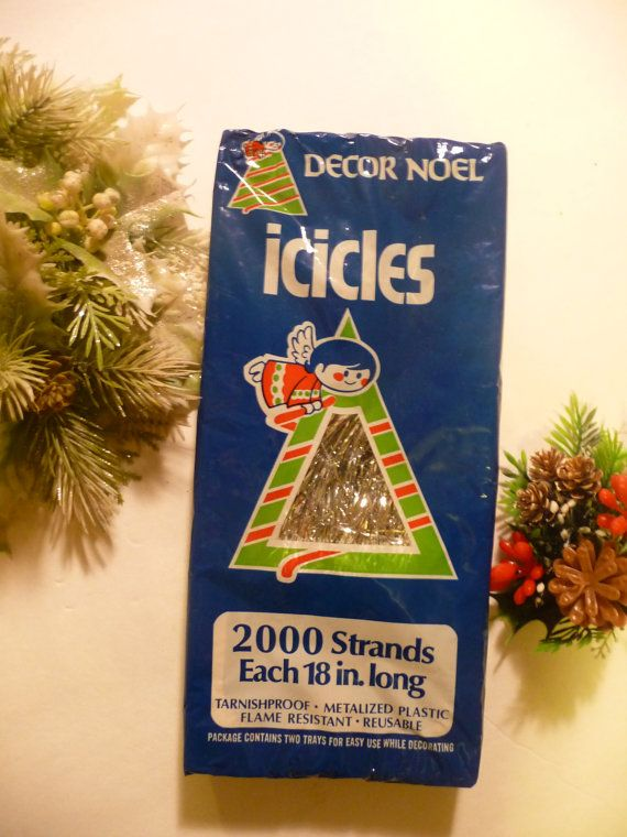 Vintage New-Old Stock Christmas Icicles / Tinsel