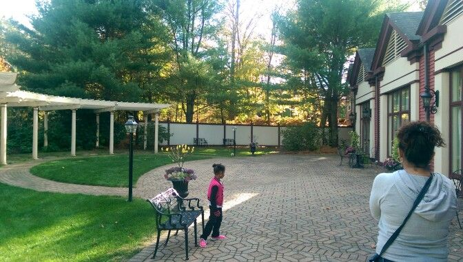 Outdoor ceremony area- belle terrace