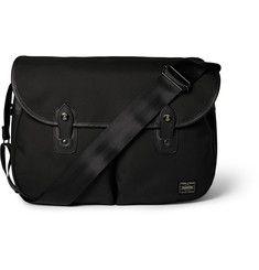 2fbf7ea4a91c Porter-Yoshida   Co Leather-Trimmed Piqué Messenger Bag