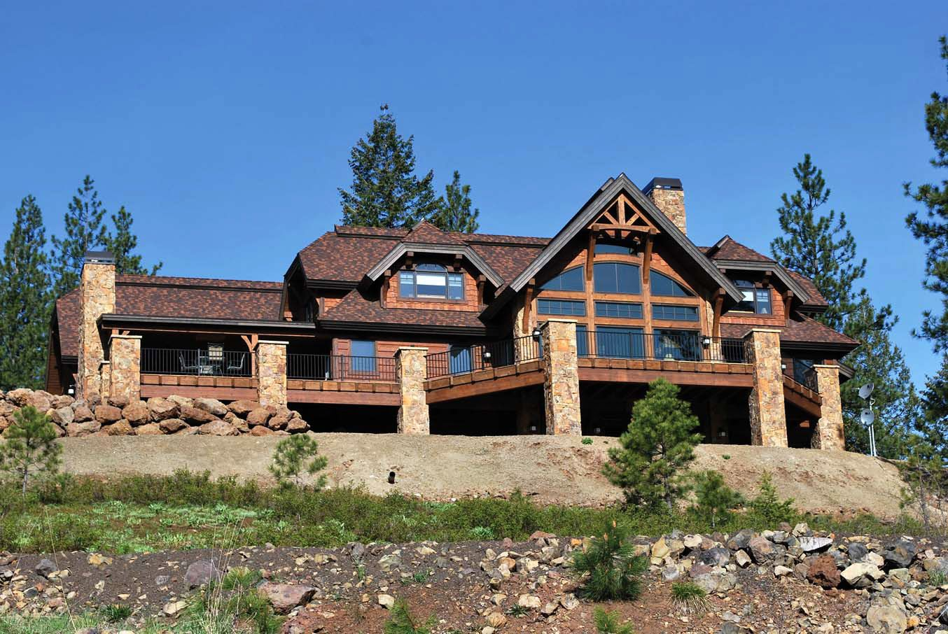 This Beautiful Timber Frame Home Overlooks Some Breathtaking Scenery In  Idaho. Custom Timber Frame Design By PrecisionCraft.