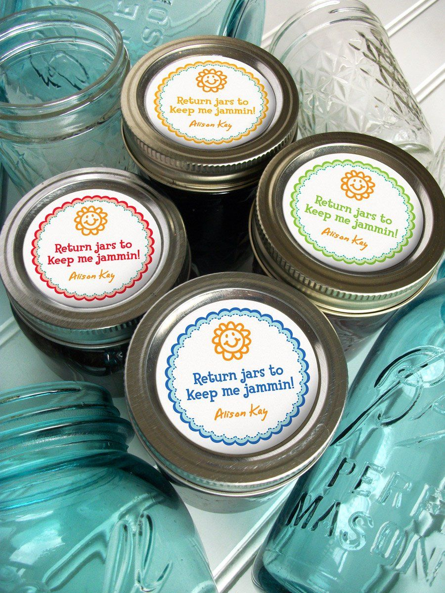 Custom return jars to keep me jammin canning labels cute custom mason jar stickers print