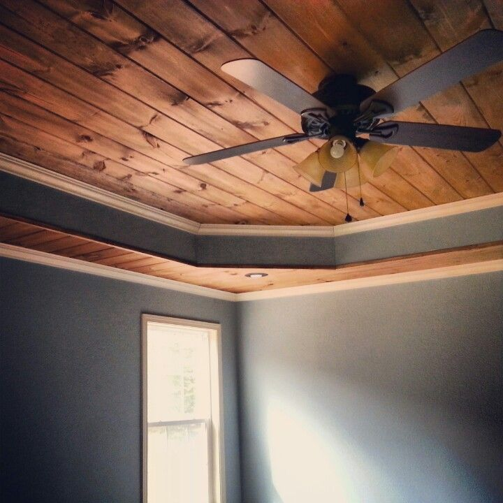 Tongue and groove tray ceiling bedroom pinterest Shiplap tray ceiling