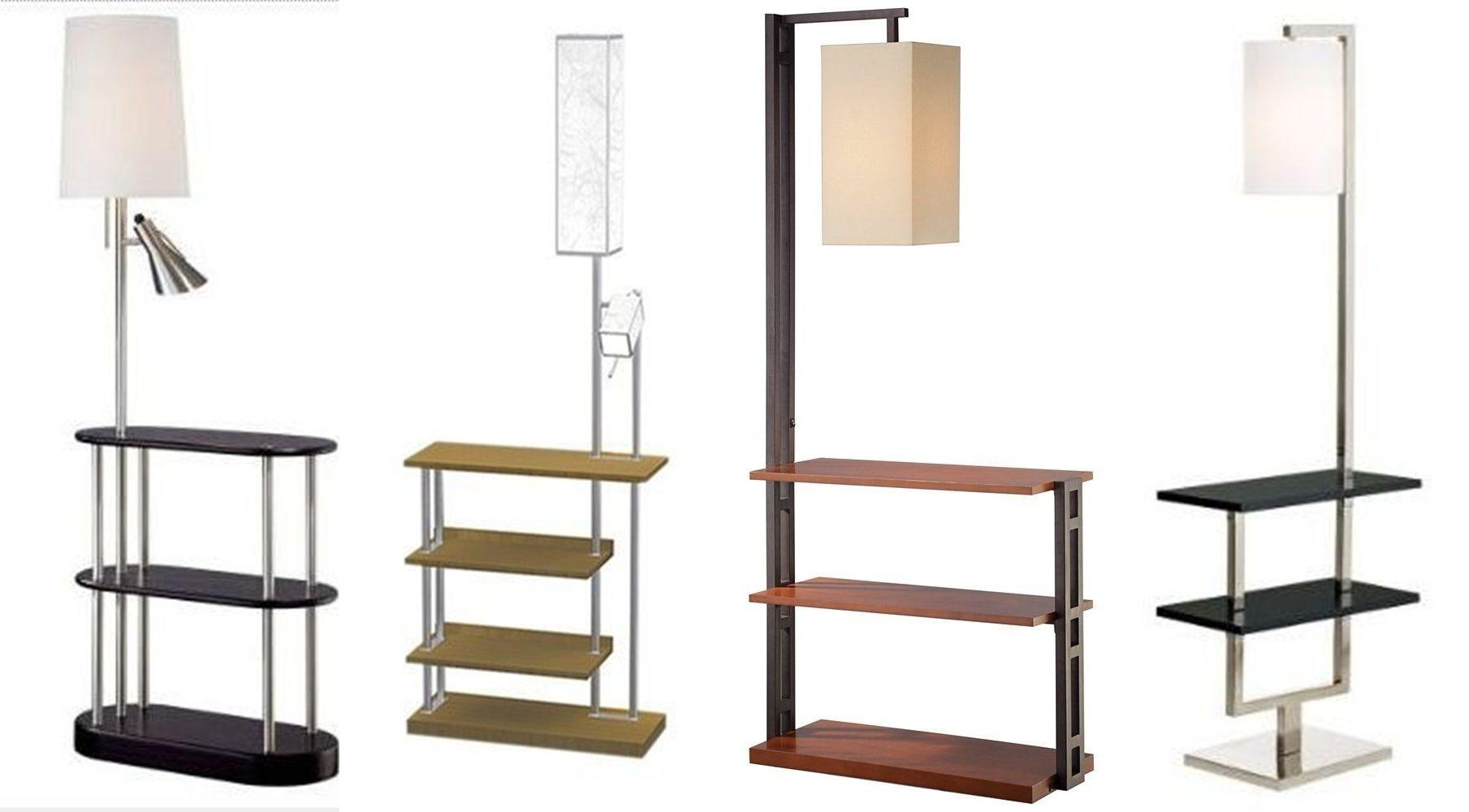 light reading deco shelf wood iron floor item industrial standing for room with home lamp shelves modern living tripod