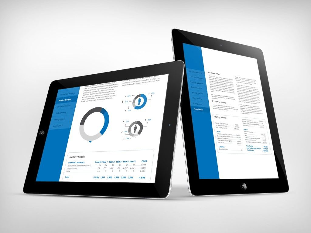 Business Plan Template r2 for Tablets iPad Optimized