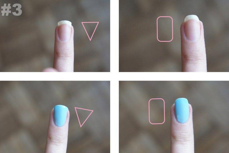 Make The Best Of Your Nail Shape A Lesson In Proportions Nagelformen Breite Nagel Fingernagel Feilen