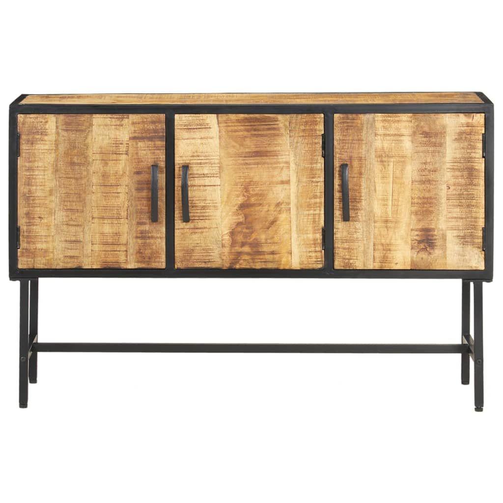 ZNTS Sideboard 110x30x70 cm Rough Mango Wood 288470