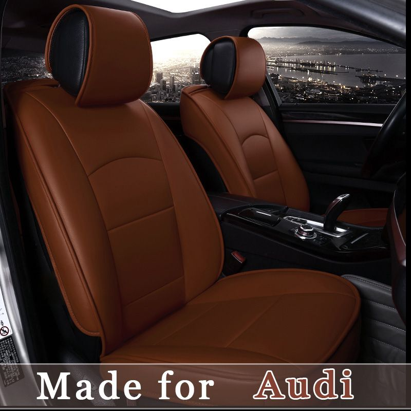 Customize Leather Car Seat Cover For Audi A1 A3 A4 A5 A6 A8 Q1 Q3 Q5 Q7 Tt Rs 5 Seat Cushion Protect 4 S Leather Car Seat Covers Car Seats Interior Accessories