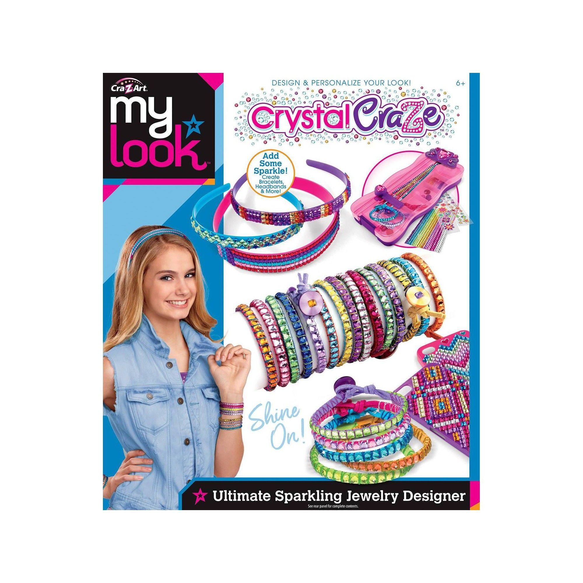 My Look Crystal Craze Sparkling Gem Creations By Cra Z Art In 2020 Z Arts Pretty Headbands Sparkle