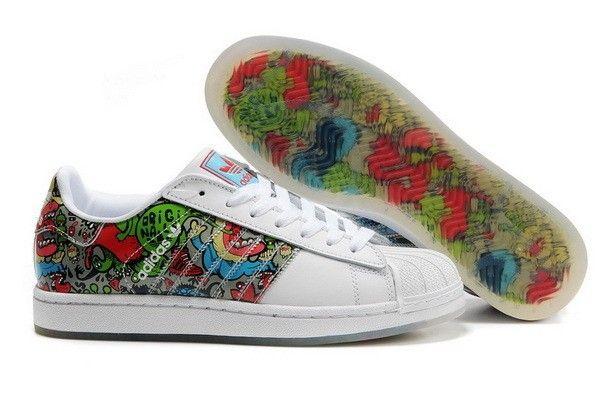 Adidas Superstar II G16308 Multicolor Grafitti Unisex Trainers Shoes Unisex  Mens Womans
