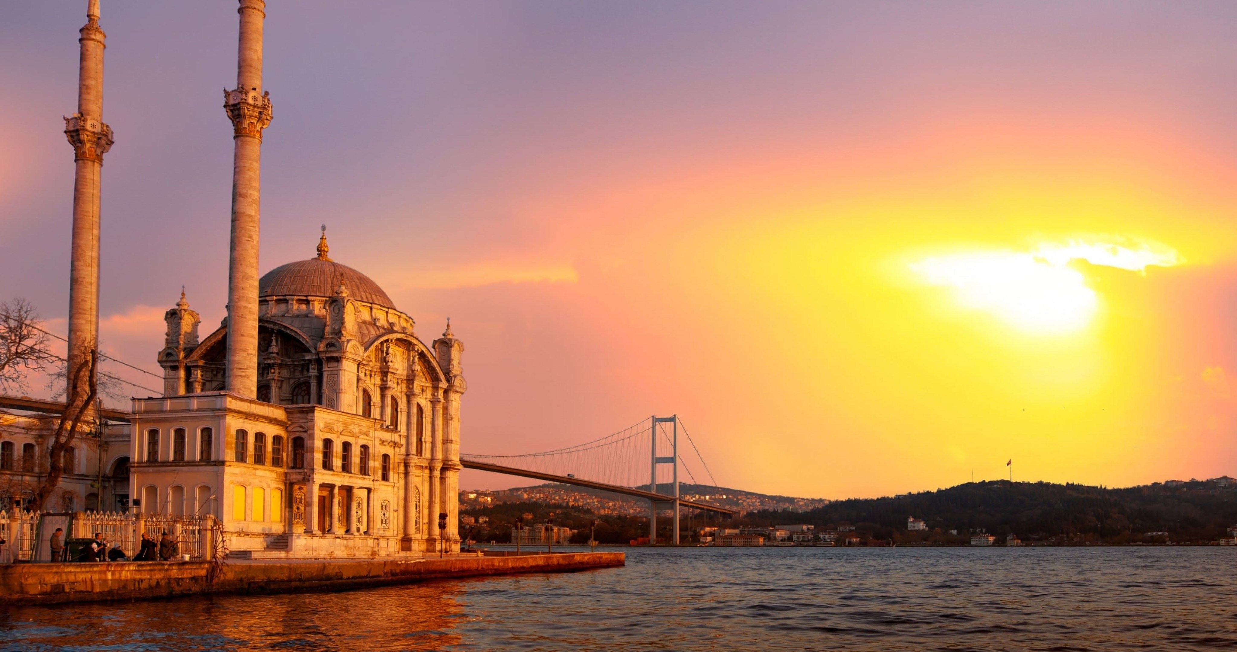 ortakoy mosque istanbul turkey 4k ultra hd wallpaper