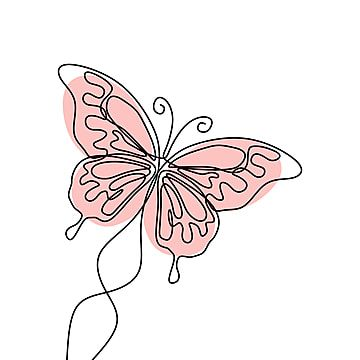 Line Butterfly Heart, Line, Curve, Butterfly PNG Transparent Clipart Image and PSD File for Free Download