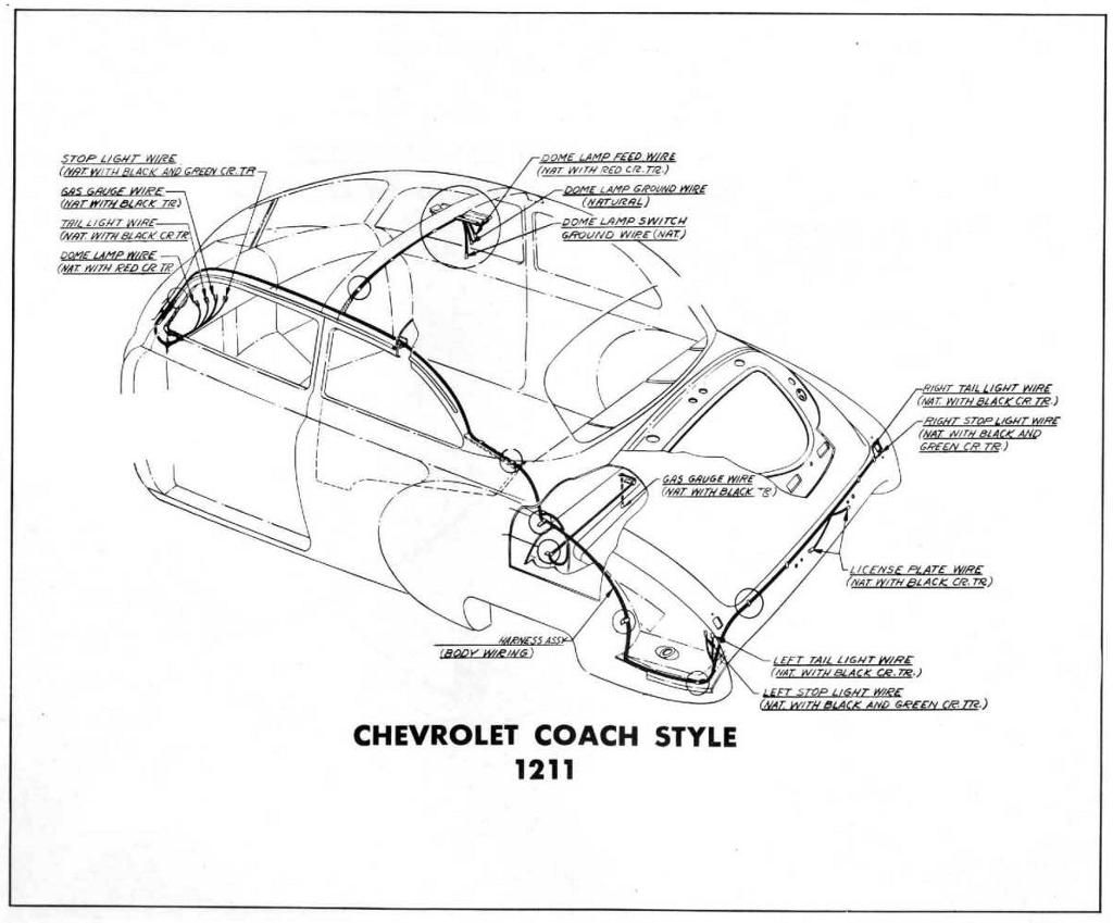 Body Wiring Diagram For The Chevrolet Coach Style