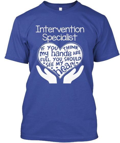 Intervention Specialist Shirt Full Heart  Teaching