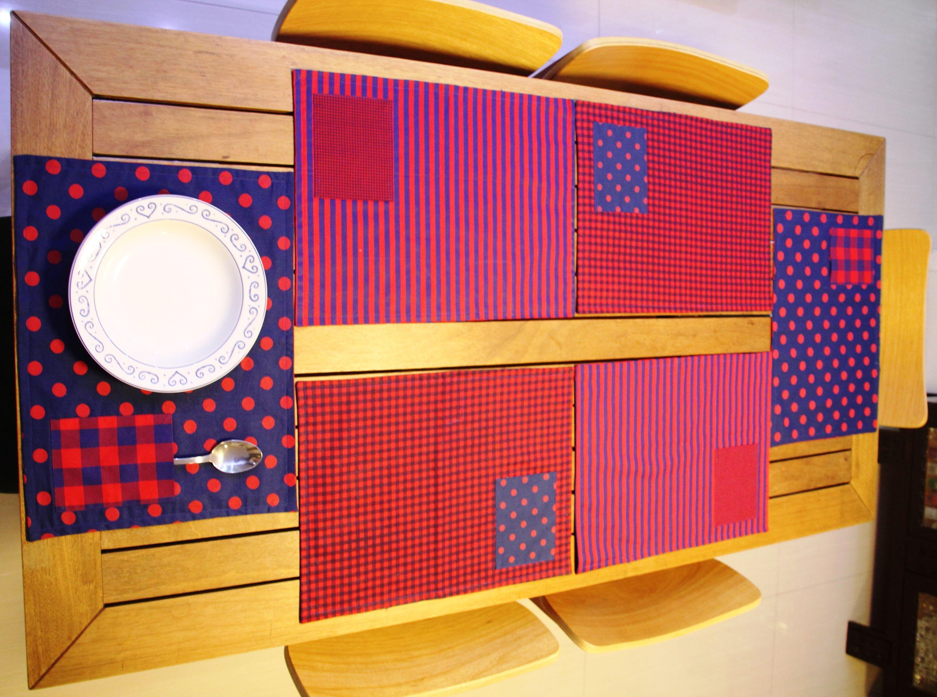 Jogo americano em patchwork.  #placemats #patchwork