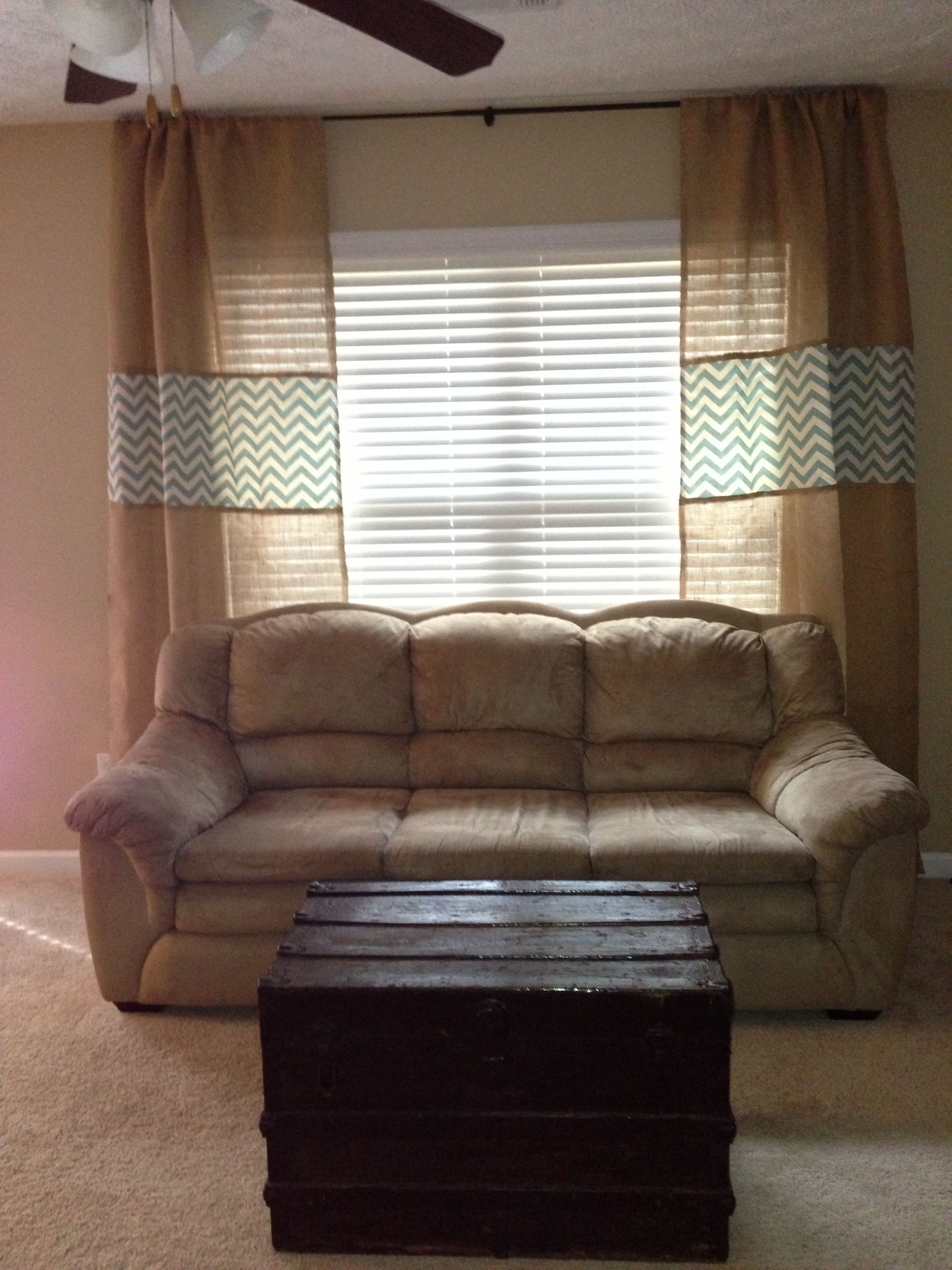 Burlap And Chevron Curtains Perfect For My Living Room For The Home Pinterest Chevron