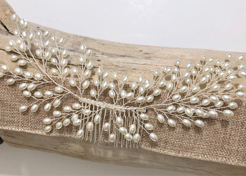 Bridal Hair Comb Bridal Pearl Hair Comb Wedding Hair Comb Pearl