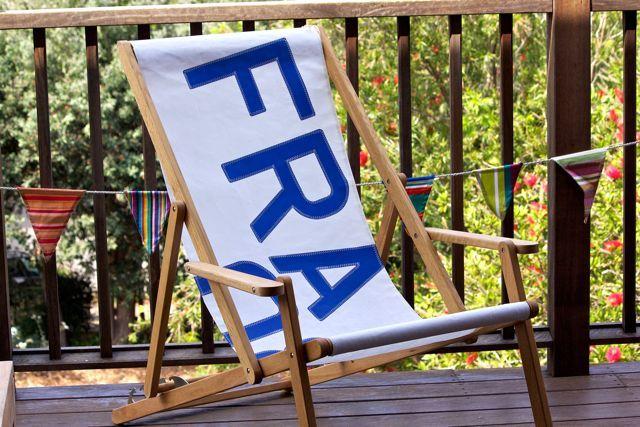 sailcloth beach chairs colorful kitchen 727 french sail cloth deck chair pieces found at beachwood