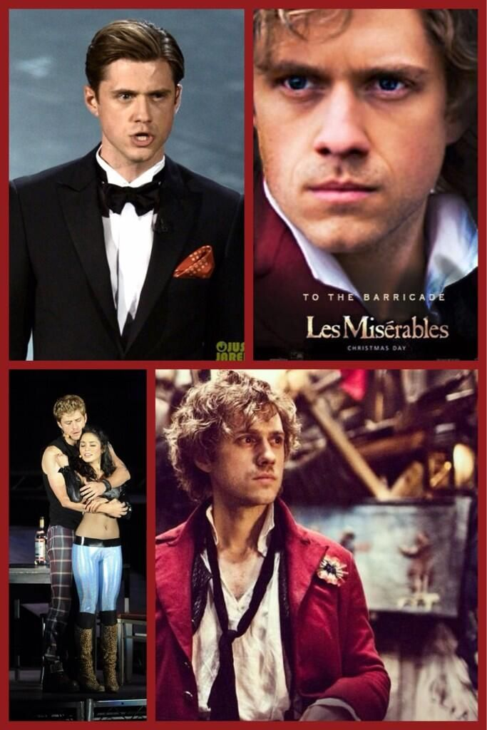 Aaron Tveit.... He's dating Samantha Barks! what? I think Samantha should've ended up with Monsir Marie and Aaron with Cuessette!