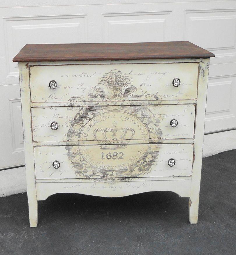 hand painted vintage dresser sold chalk paint pinterest restaurierte m bel restaurieren. Black Bedroom Furniture Sets. Home Design Ideas