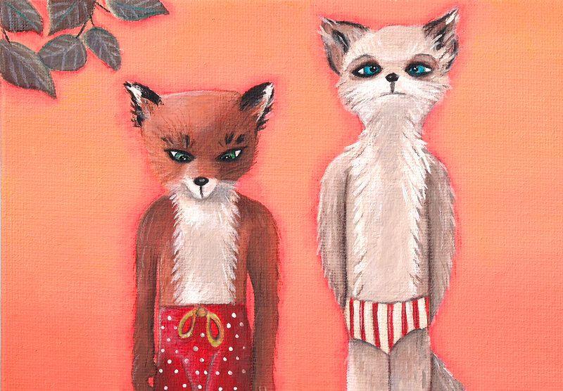 Fantastic Mr Fox Ash Meets Cousin Kristofferson Print Fantastic Mr Fox Fantastic Fox Original Canvas