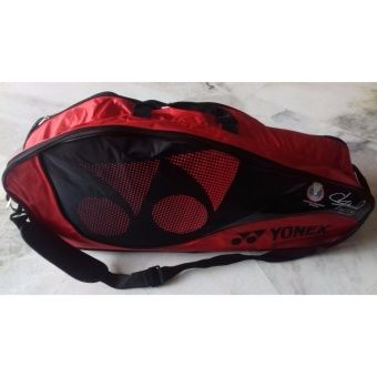 Yonex Badminton Bag Red 283q Signed By Lcw Badminton Bag Yonex Badminton Bag Badminton