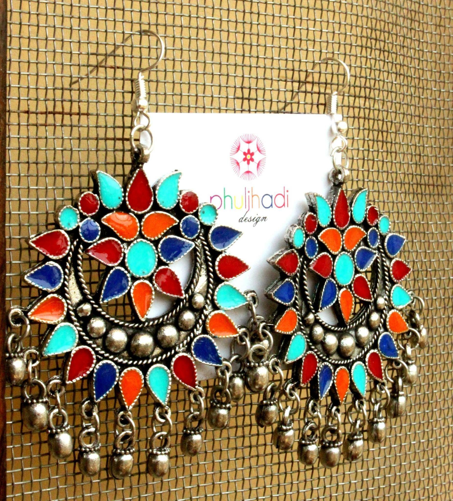 Emslinsky Ethnicjewelry India Jewelryethnic Jewelryboho Jewelrysilver Jewelleryfine Jewelrychandelier Earringsgold