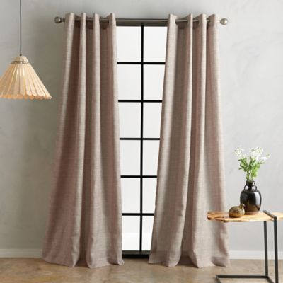 Bedeck Juma Solid 84 Grommet Window Curtain Panel In Linen In