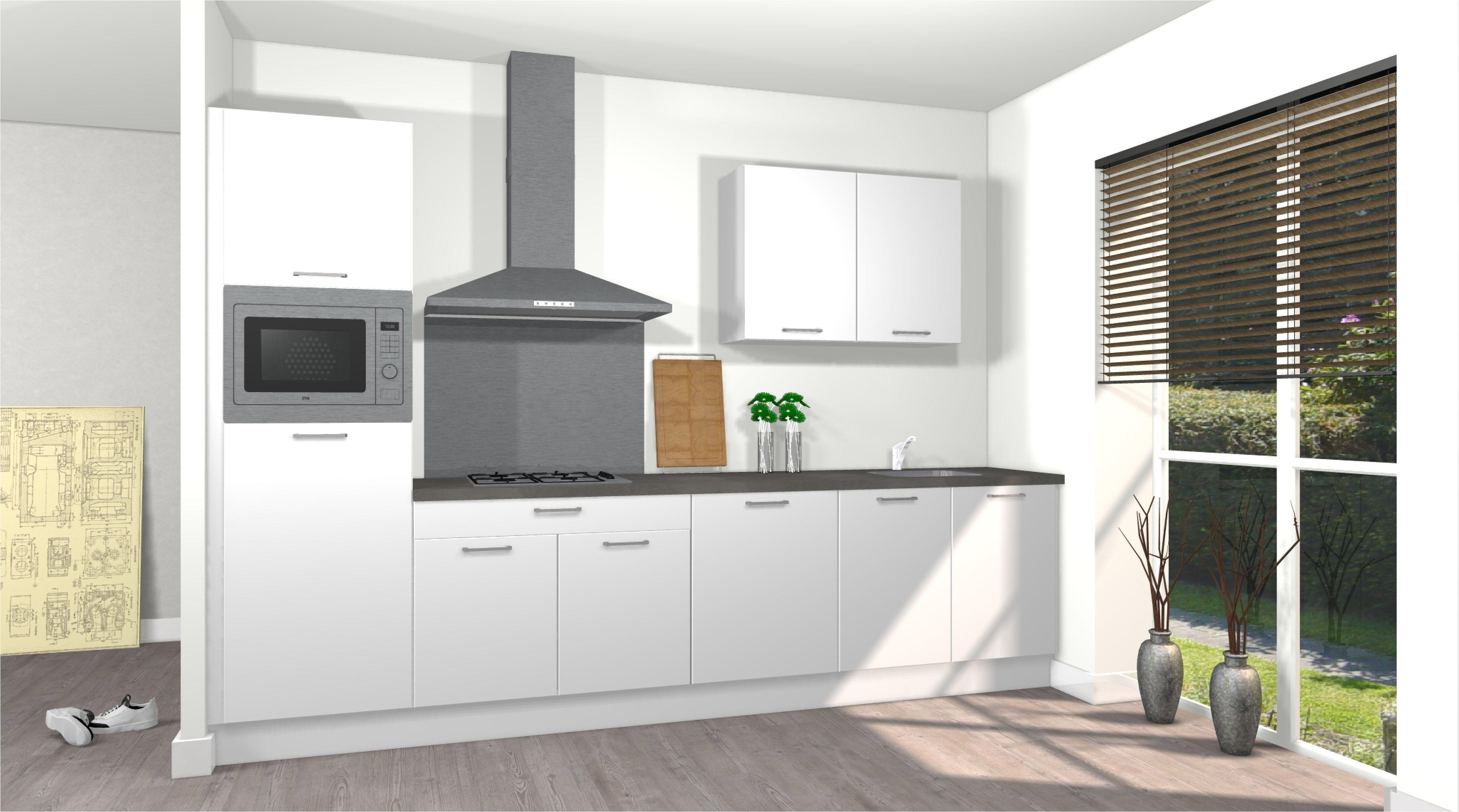 Comfort opstelling keuken van #voortman #keukens rechte opstelling