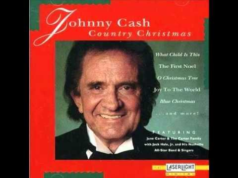 Johnny Cash Away In A Manger Christmas Music Videos Johnny Cash Christmas Music