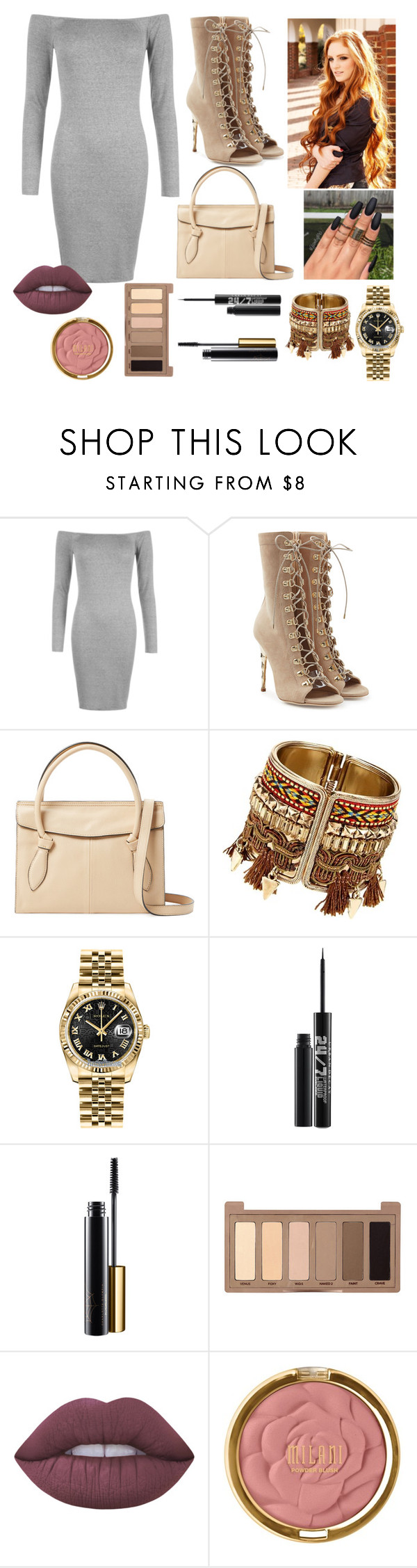"""""""OOTD 15"""" by emma-rose-t ❤ liked on Polyvore featuring WearAll, Balmain, Foley + Corinna, Rolex, Urban Decay, Lime Crime and Milani"""