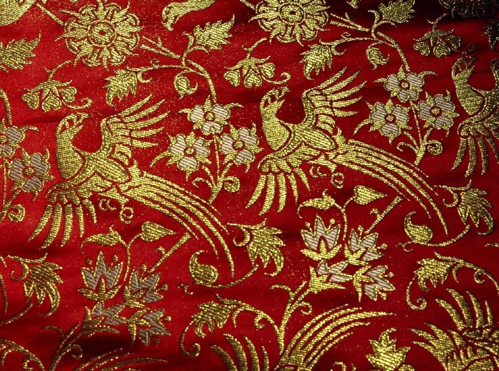 Brocade Italy 14th century, red - Sartor