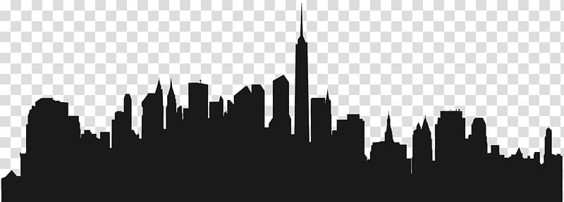 City Cities Skylines New York City Wall Decal Building Transparent Background Png Clipart City Silhouette Gotham City Skyline New York Skyline Silhouette