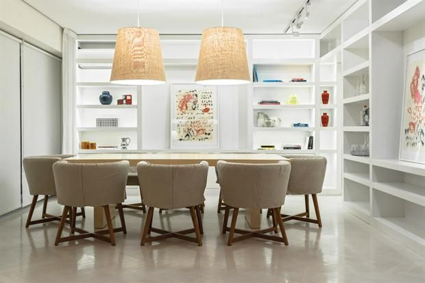 Un plan de luz para el living comedor lamp light dining - Iluminacion para comedor ...