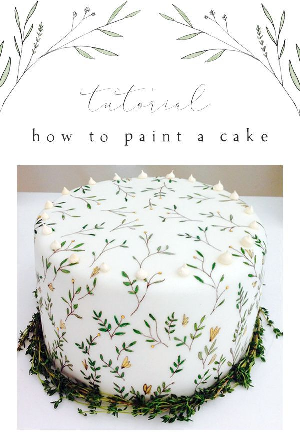 Masterclass - How to paint a cake — Mimolo Design