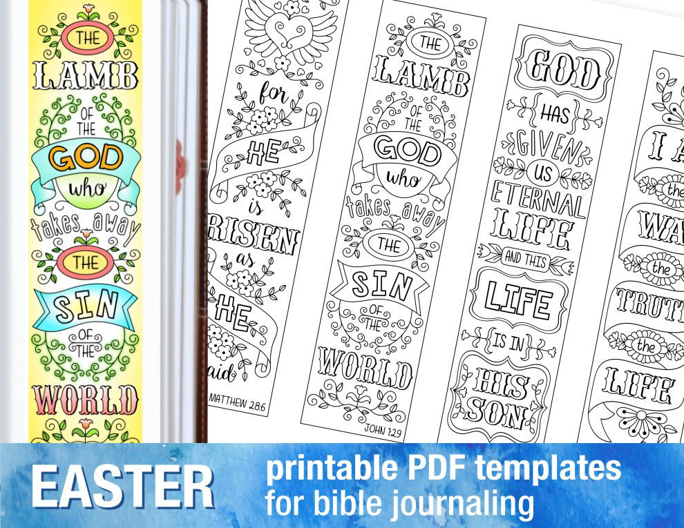 easter 4 bible journaling printable templates illustrated