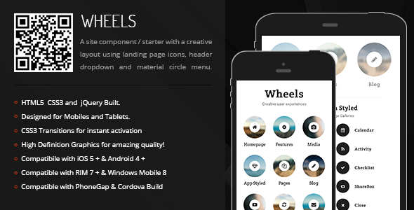 Download Free Wheels | Creative Navigation for Mobile & Tablets