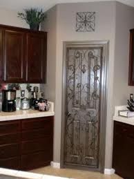Looks Like Builder Pantry Door Painted Kicked Up A Notch W Wrought Iron Kitchen Diy Makeover Kitchen Makeover Diy Kitchen