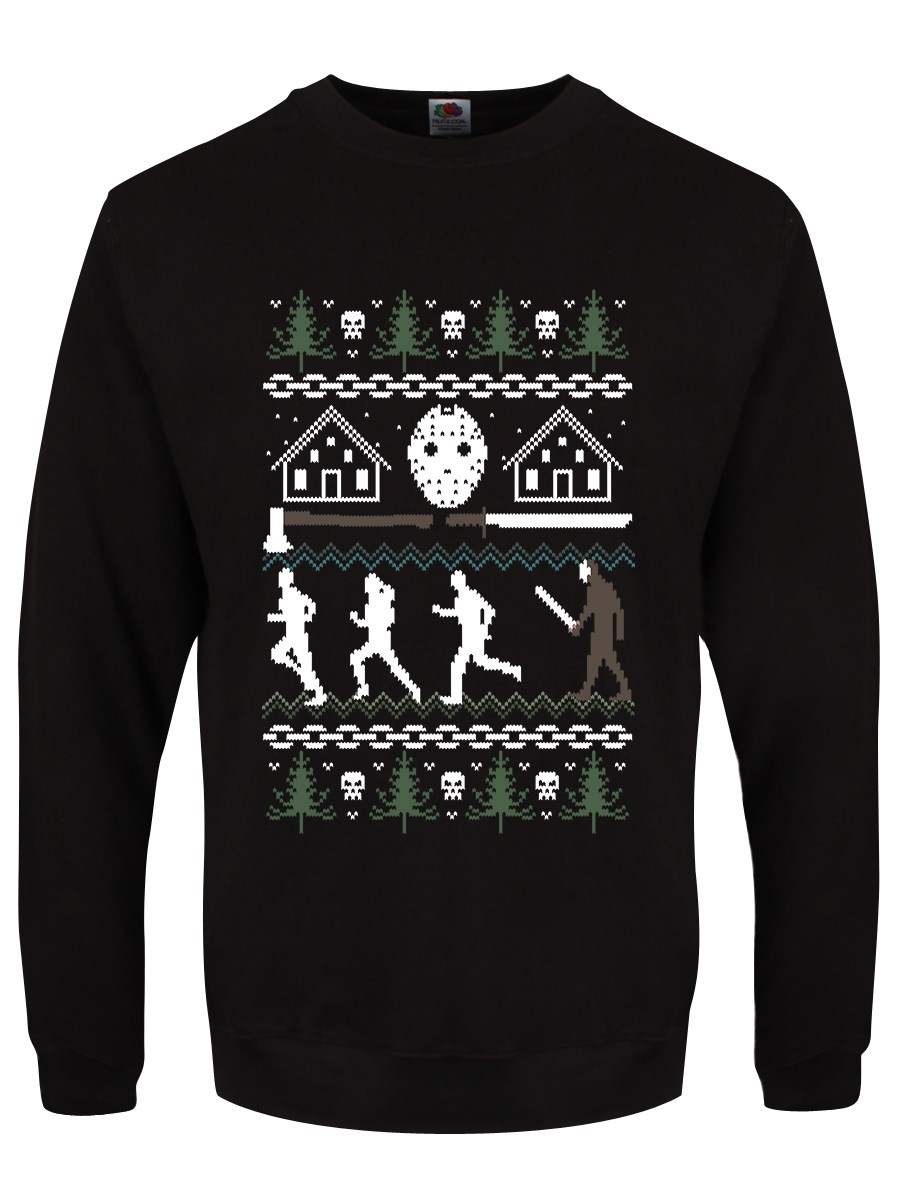 Camp Crystal Lake Men's Black Christmas Jumper in 2020