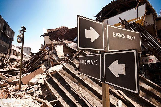 Devastación después de un terremoto