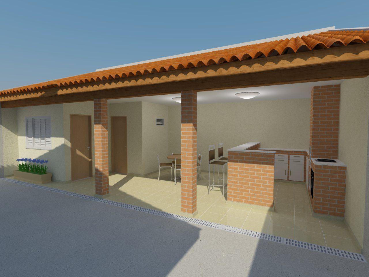 area de serviço com quarto e banheiro  Pesquisa Google  Bina  Pinterest   -> Banheiro Simples Para Area De Lazer