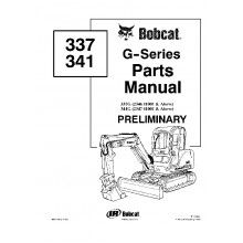 Bobcat 337, 341 G-Series Preliminary Excavator Parts