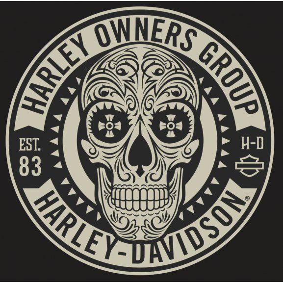 Logo Of Harley Owners Group Harley Harley Davidson Logo Skull Logo