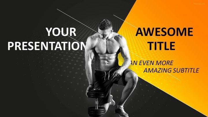 sports - bodybuilding powerpoint template | sports powerpoint, Modern powerpoint