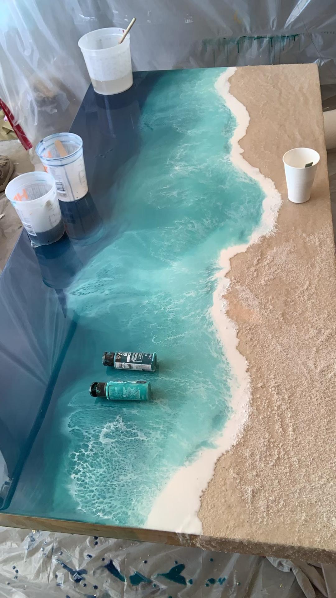 Photo of Process Video if Custom Ocean Art Seascape