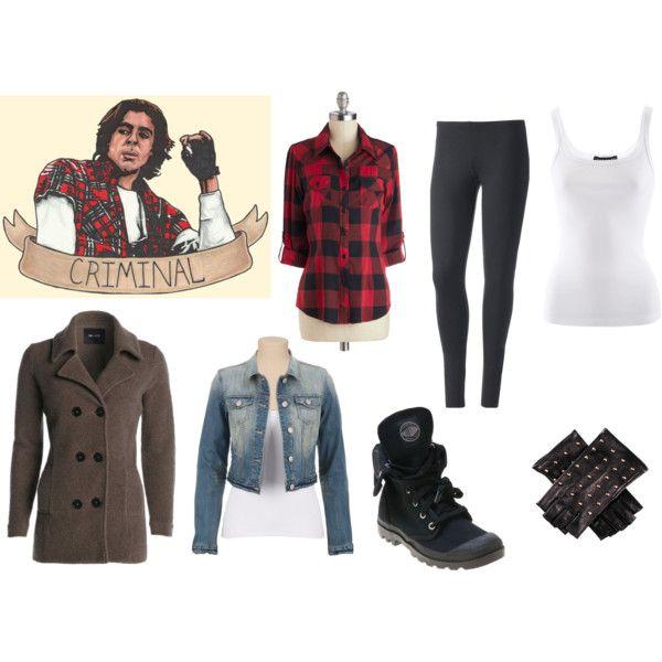 """Girls John Bender Inspired Outfit"" by gleegirl-1d on Polyvore"