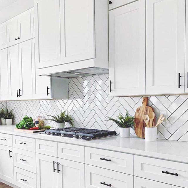 Basic White 4x12 Polished Ceramic Wall Tile Kitchen Design Well Nothing Beats In 2020 Kitchen Backsplash Trends Kitchen Backsplash Designs Herringbone Tiles Kitchen