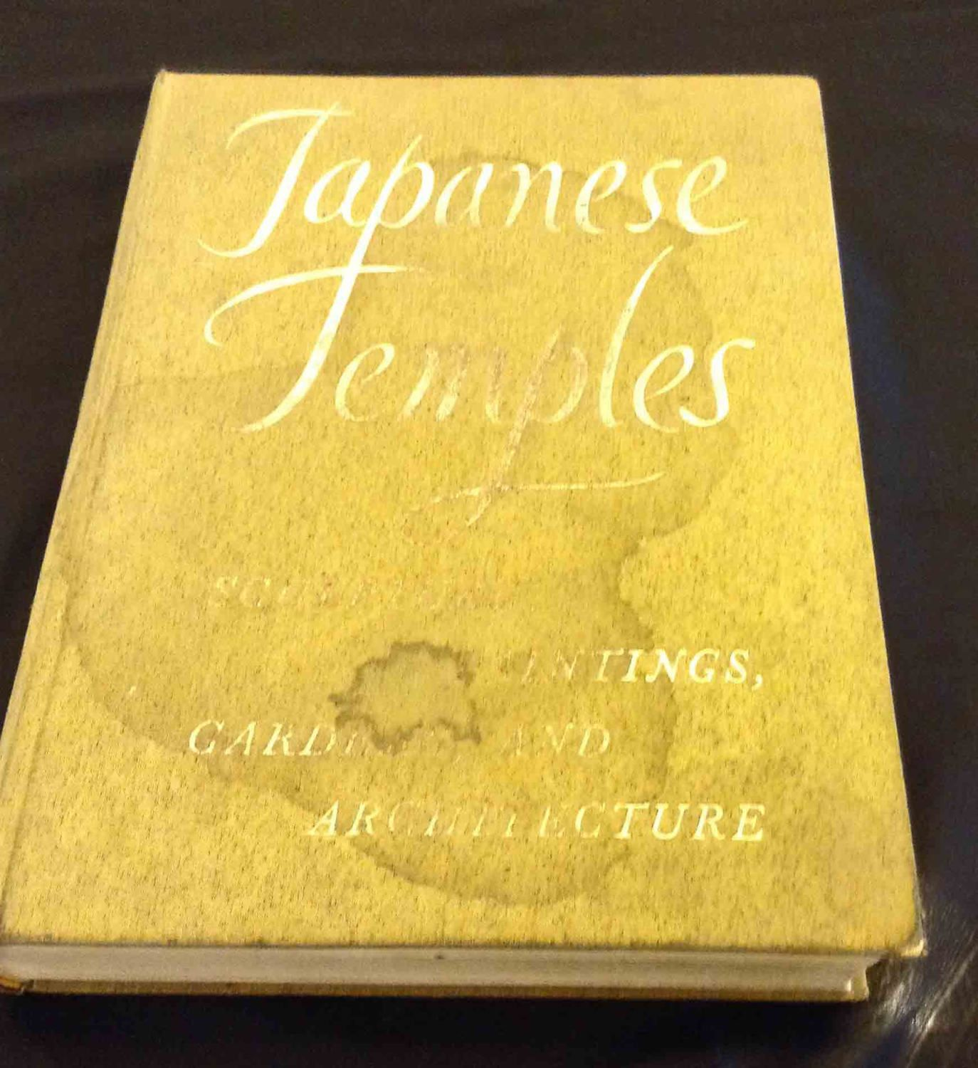 Japanese Temple Book History of Buddhist Temples Hard Cover Free
